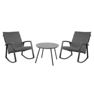 Komplekt LOKI laud ja 2 kiiktooli