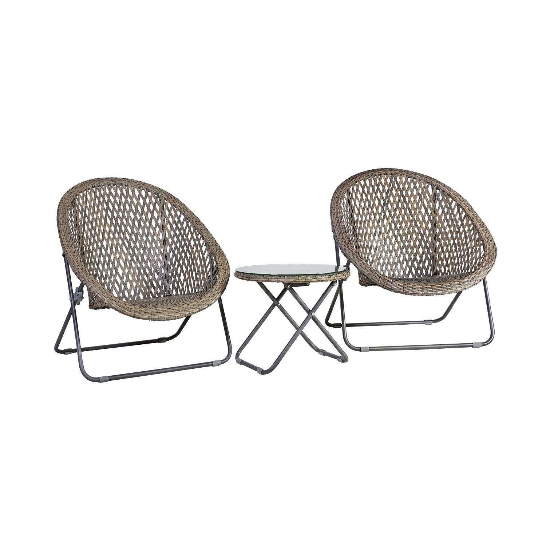 Komplekt TURKU 2 tooli ja abilaud