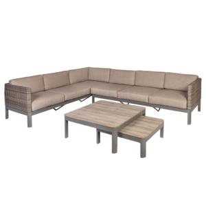 Komplekt ADMIRAL nurgadiivan ja 2 lauda