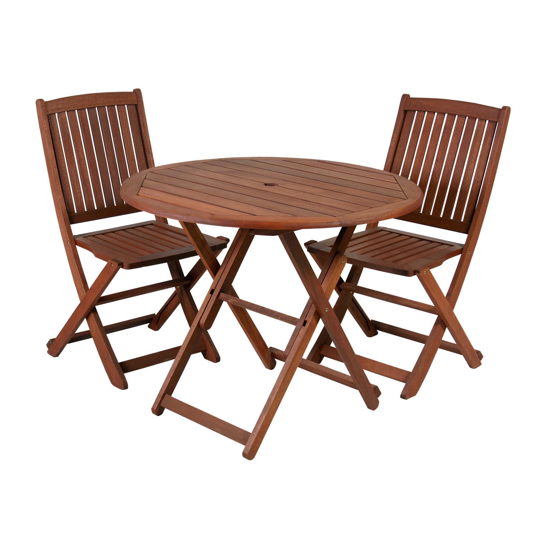 Komplekt NANTES laud ja 2 tooli