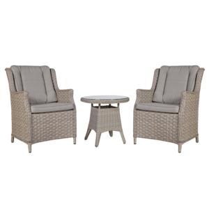 Komplekt PACIFIC laud ja 2 tooli