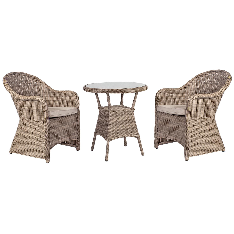 Komplekt TOSCANA laud ja 2 tooli