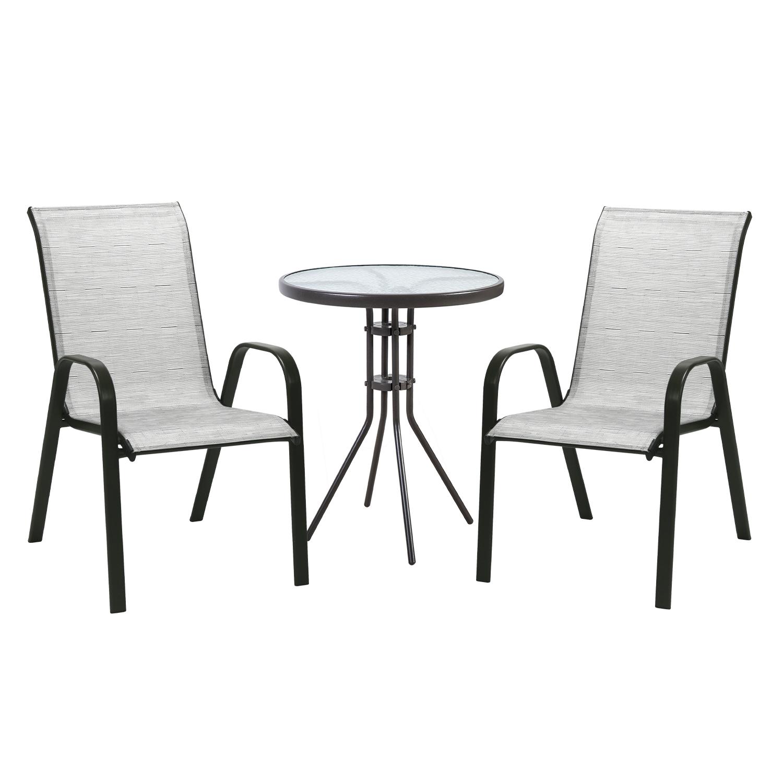Komplekt DUBLIN laud ja 2 tooli 11873