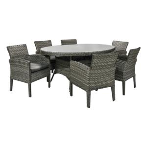 Komplekt GENEVA laud ja 6 tooli