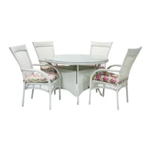 Komplekt WHISTLER  laud ja 4 tooli
