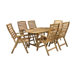 Komplekt FINLAY laud ja 6 tooli