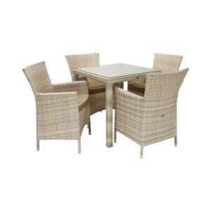 Komplekt WICKER laud ja 4 tooli