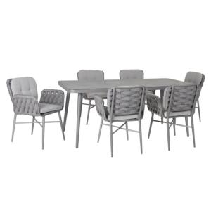 Komplekt ASCONA laud ja 6 tooli (21170)