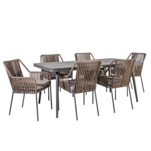 Komplekt ANDROS laud ja 6 tooli