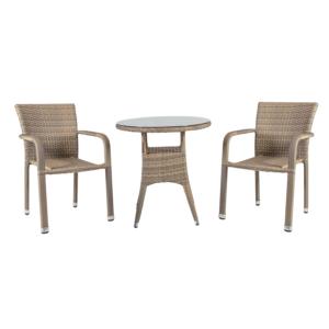 Komplekt LARACHE laud ja 2 tooli (2102)