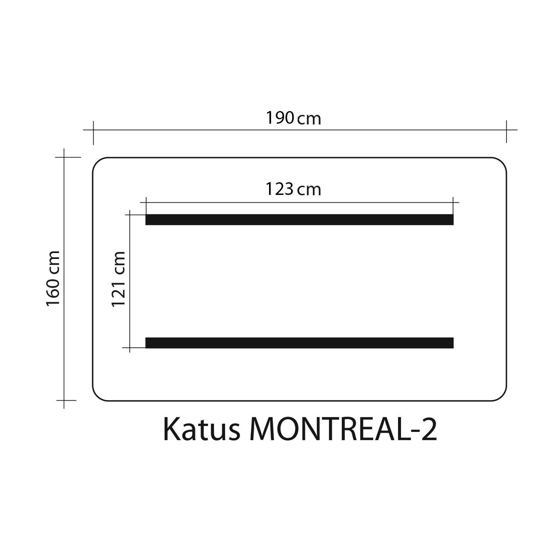 Kiigekatus MONTREAL 2 160x190cm