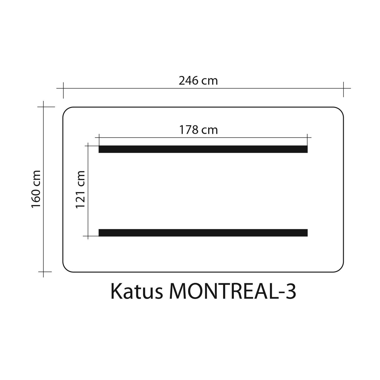 Kiigekatus MONTREAL 3 160x246cm