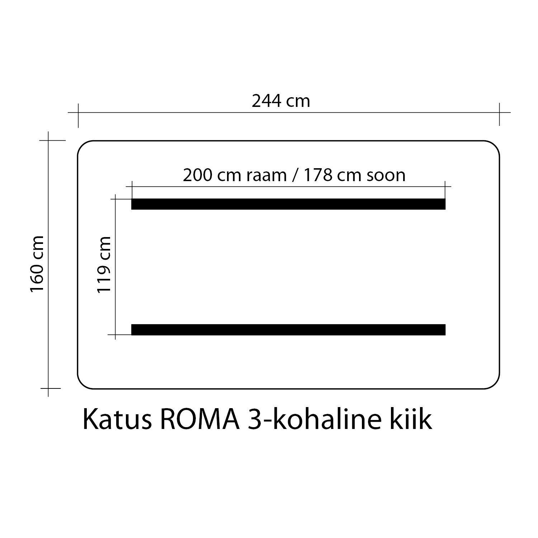 Kiigekatus ROMA 160x244cm