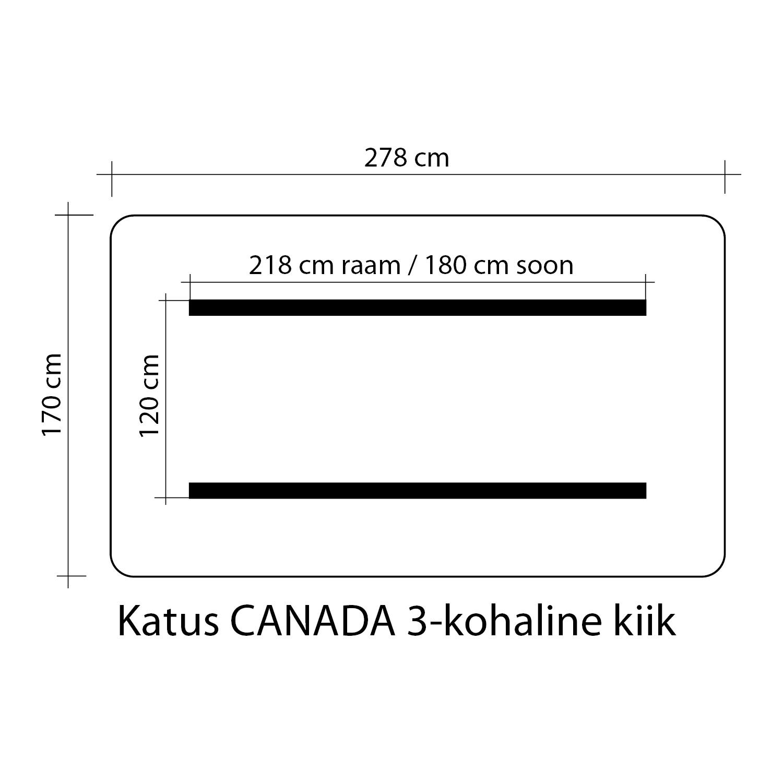 Kiigekatus CANADA 170x278cm